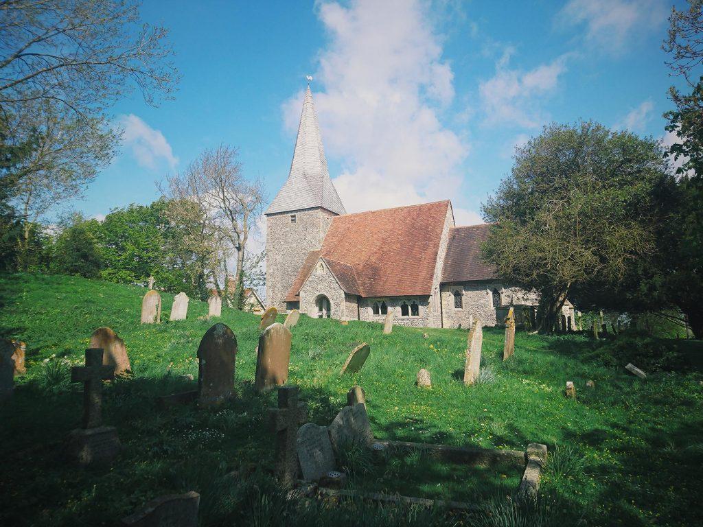 Berwick Church Churchyard ancient sussex